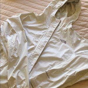 White North Face Rain Jacket